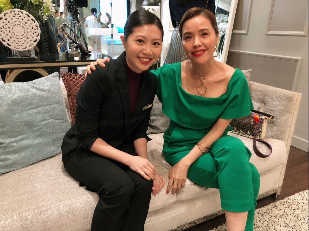 with Mediacorp Ahjie Zoe Tay