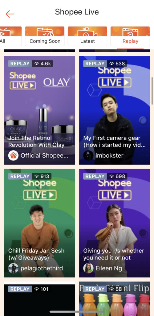 only on Shopee App, replay OLAY to watch!