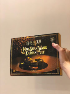 Mao Shan Wang Durian Puff - golden moments